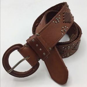 ABERCROMBIE & FITCH Leather Studded BOHO Hip BELT
